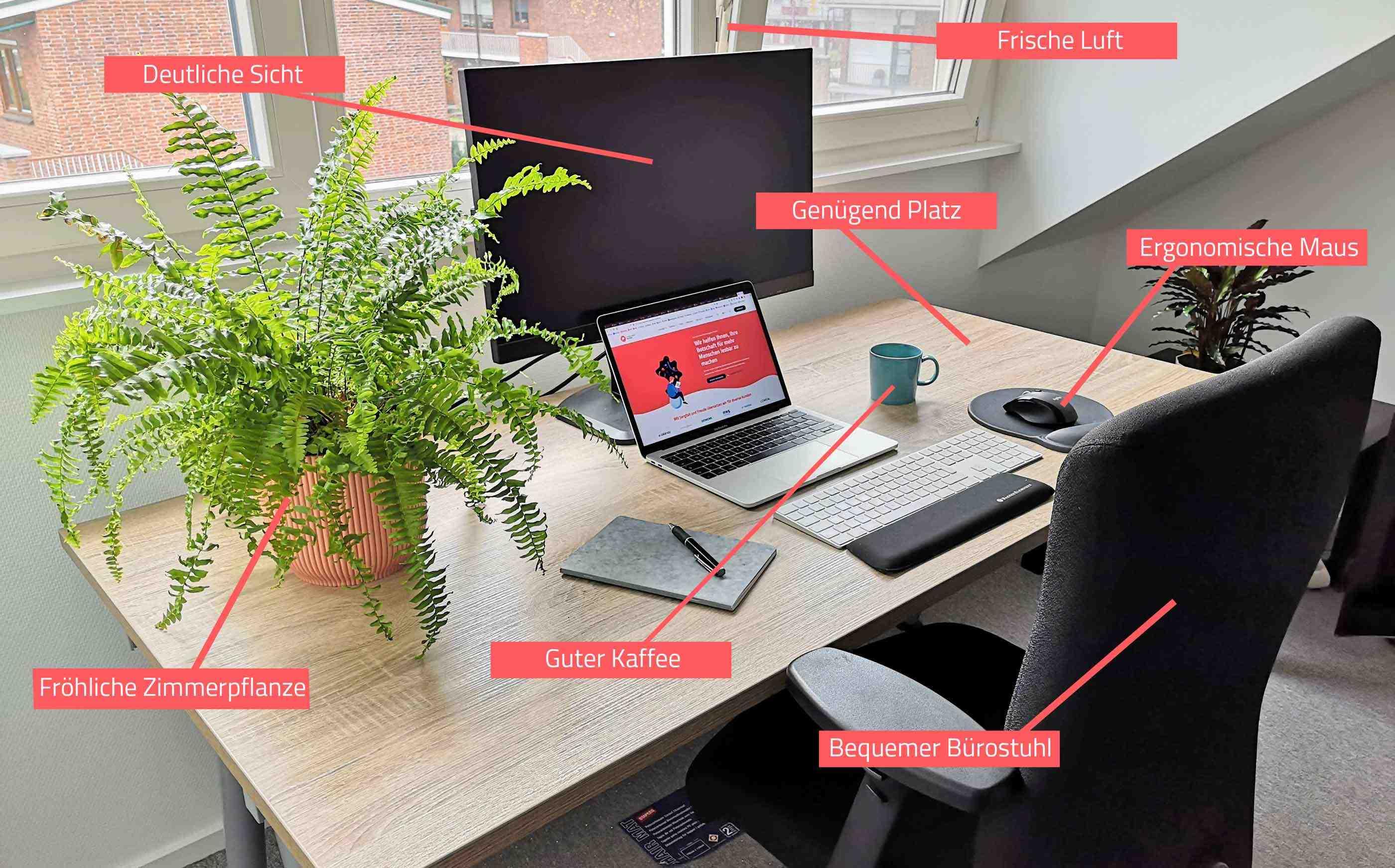 Ein gut eingerichtetes Home-Office ist sehr wichtig