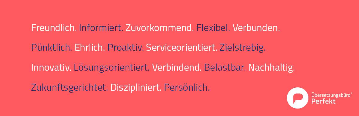 Übersetzungsbüro Qualitäten Attribute